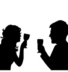 Love cheers Pair with glass vector image vector image