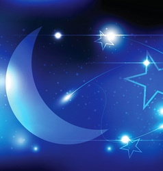 moon and shiny background vector image