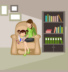 mother read book to child vector image vector image