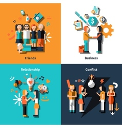 People social relationship vector image vector image