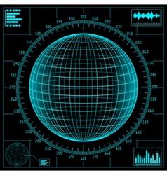 radar screen digital vector image vector image