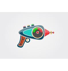 Ray gun cartoon Supergun vector image