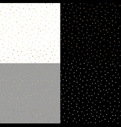 seamless pattern with gold painted dots on the vector image vector image