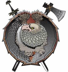 shield with griffins mystical creature vector image vector image