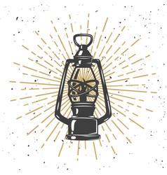 vintage kerosene lamp vector image vector image