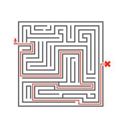 man pass way intricacy labyrinth isometric maze vector image