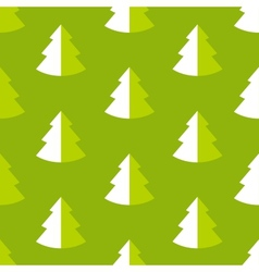Seamless pattern with fir vector image