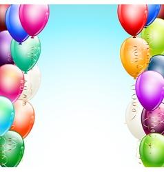 balloons borders vector image