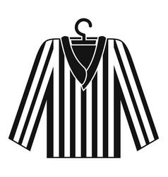Striped pajama shirt icon simple style vector