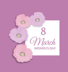 8 march happy international womens day greeting vector image
