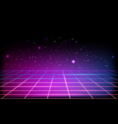 abstract background with neon grids vector image