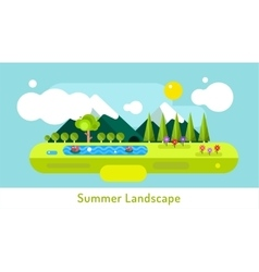 Abstract outdoor summer landscape Trees and vector image