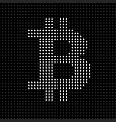 abstract sign bitcoin of dots cryptocurrency vector image