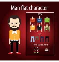 Adult stylish man angry hipster vector image