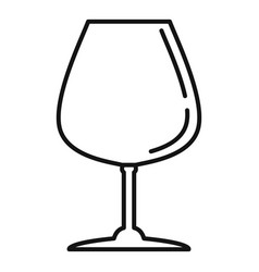 Alcohol glassware icon outline style vector