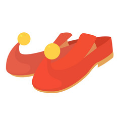 Arabic shoes icon cartoon style vector