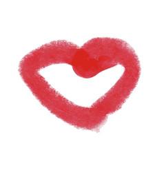 art beauty design lipstick red mark vector image