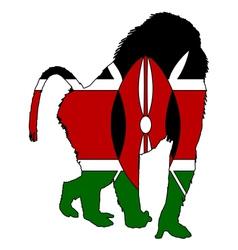 Baboon Kenya vector