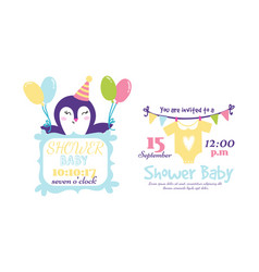baby shower badge happy mothers day insignias vector image vector image