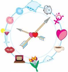 Bachelor clock vector