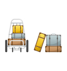 baggage claim luggage cart vector image