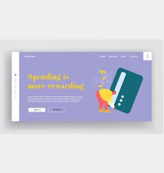 banking system online transaction website landing vector image