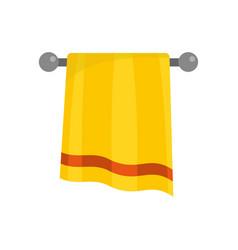 bathroom towel icon flat style vector image