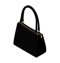 Beautiful womens handbag on a white background vector