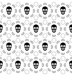 Brown Skull Pattern vector image