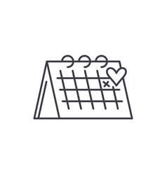 calendar line icon concept calendar linear vector image