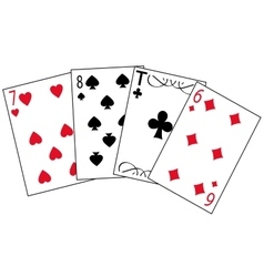 Cards for play vector
