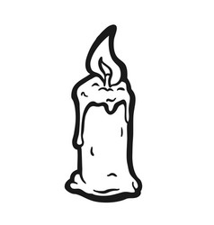cartoon burning candle vector image