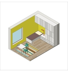 Children room vector image
