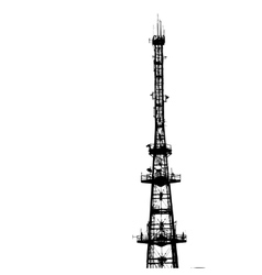 Communications tower for tv and mobile phone vector