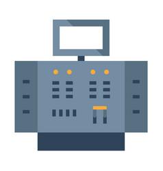 Control panel flat vector