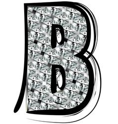 Diamond Font letter B vector image