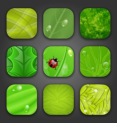 Ecologic backgrounds with leaves texture for the vector