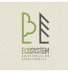 Ecological emblem template vector