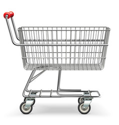 Empty supermarket cart vector