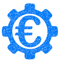 euro options grunge icon vector image