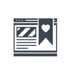 Favorites glyph icon vector