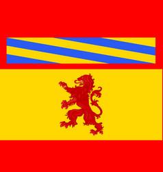 Flag of autun in saone et loire of burgundy france vector