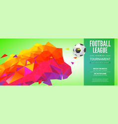 football banner soccer ball flying with track vector image