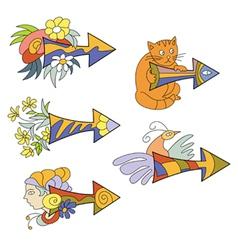 Funny colored arrows vector