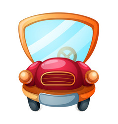 funny cute cartoon car vector image