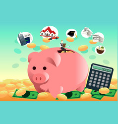 Future financial planning concept vector
