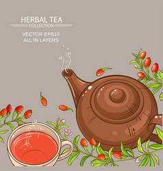 Goji tea background vector