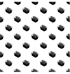 Hand wash 60 degrees celsius pattern vector