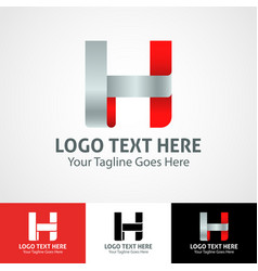 Hi-tech trendy initial icon logo h vector