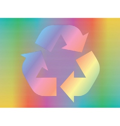 Hologram with recycle icon vector